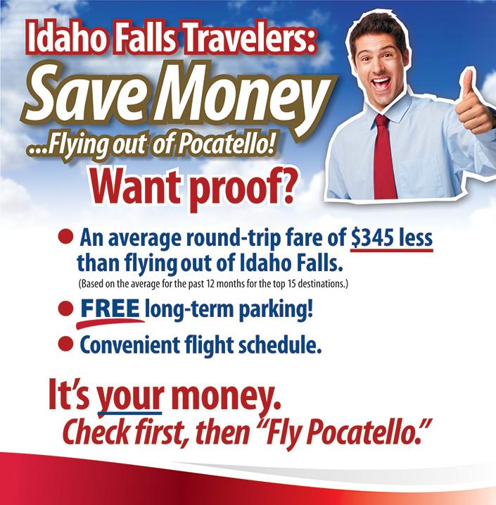 Fly Pocatello for Less Than Idaho Falls
